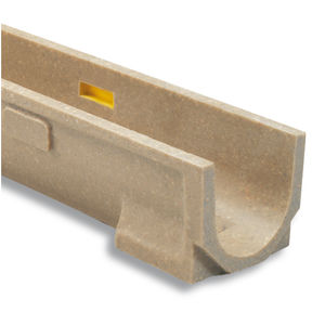 polymer concrete drainage channel / galvanized steel / cast iron / with grating