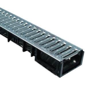galvanized steel drainage channel / polypropylene / composite / slot