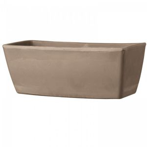 terracotta garden pot / rectangular
