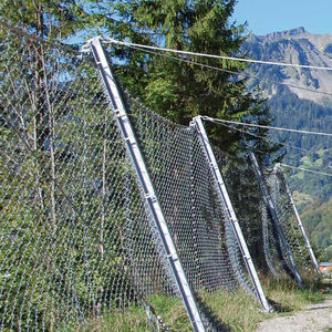 rockfall barrier / fixed / steel / for public spaces