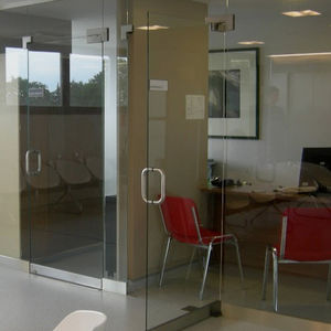 tempered glass panel / for partition walls / for doors / for facade