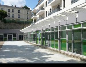 laminated glass panel / insulating / double-glazed / sun protection