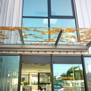 laminated glass panel / double-glazed / insulating / patterned