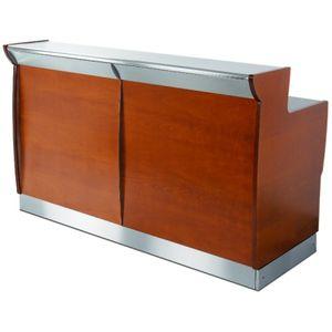 bar counter / wooden / laminate / upright