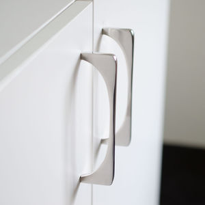 brushed stainless steel furniture handle