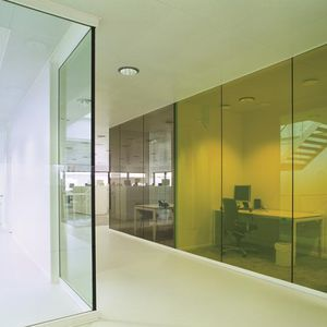 safety glass panel / fire-rated / for partition walls / for windows