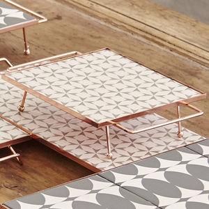 copper serving tray / aluminum / ceramic / home