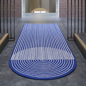 contemporary rug / striped / wool / cotton