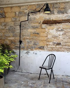 floor-standing lamp / contemporary / stainless steel / borosilicate glass