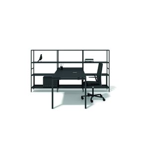 modular shelf / contemporary / metal / for office