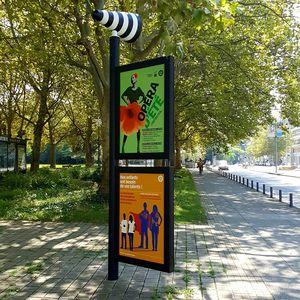 public space information panel