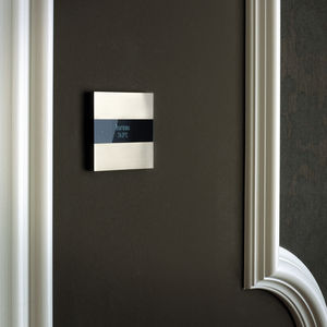 programmable thermostat / electronic / recessed wall / for heating