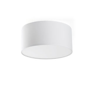 contemporary ceiling light / round / metal / fabric
