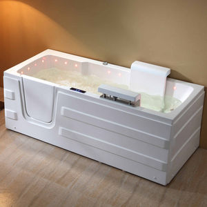 free-standing bathtub / acrylic / ABS / for handicapped