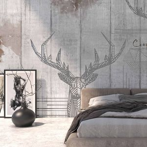 contemporary wallpaper / metal / nature pattern / animal motif