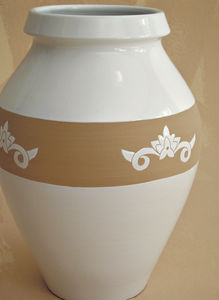 traditional vase / ceramic / handmade
