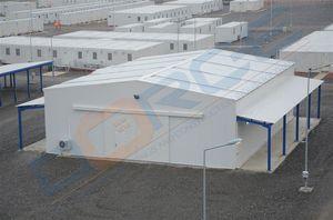 prefab building / temporary / trailerable / steel