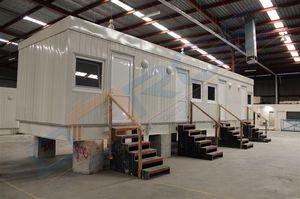 prefab house / container / contemporary / steel