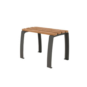 contemporary stool / wooden / steel / for public spaces