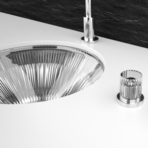 built-in washbasin / round / crystal / classic