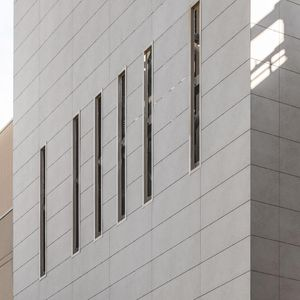 ventilated facade cladding / panel / ceramic / polished