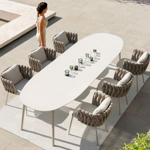 ceramic table top / heat-resistant / wear-resistant / stain-proof