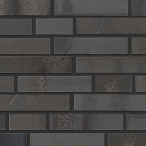 clinker cladding brick / for facade / black
