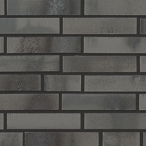 clinker cladding brick / for facade / gray
