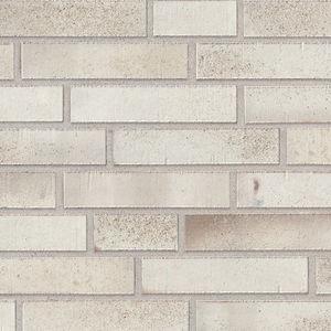 clinker cladding brick / for facade / white