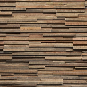 wooden wall cladding panel / exterior / brown / decorative