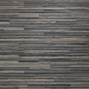 oak wall cladding / indoor / textured / black