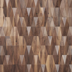 wooden wall cladding panel / interior / 3D / natural finish