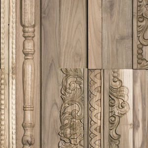 wood decorative panel / wall-mounted / for interior / wall