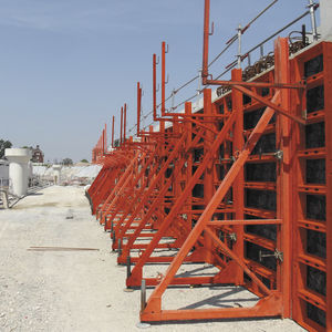 single-sided formwork / frame / metal / wall