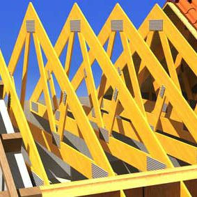 wooden trussed rafter