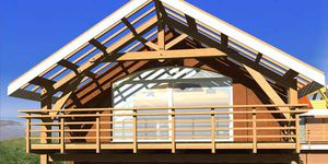 solid wood roof framing