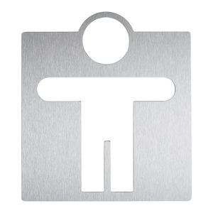 stainless steel door pictogram