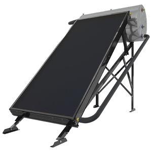 solar water heater / free-standing / horizontal / with heat exchanger