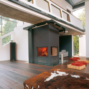 closed wood hearth / 1-sided / corner / double-sided