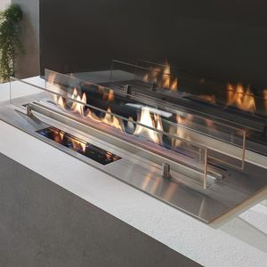 rectangular bioethanol burner / contemporary / built-in