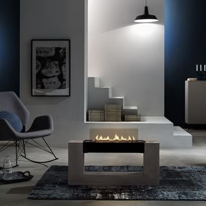 bioethanol fireplace / contemporary / closed hearth / central