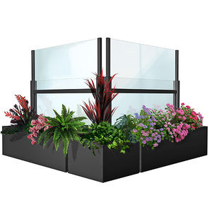 glass windbreak panel / commercial
