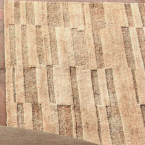 contemporary rug / striped / linen / Tibetan wool