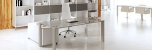 multimedia desk / wooden / contemporary / commercial