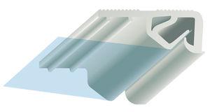PVC fastening profile
