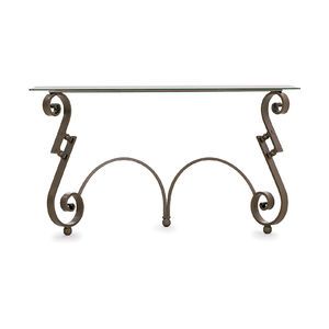 classic sideboard table / wrought iron / rectangular