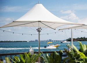 commercial patio umbrella / fabric / aluminum / stainless steel