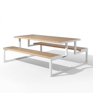 contemporary picnic table / galvanized steel / aluminum / powder-coated steel