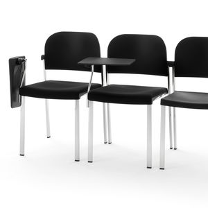 contemporary conference chair / with armrests / stackable / tablet
