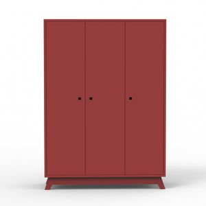 contemporary wardrobe / MDF / with swing doors / child's